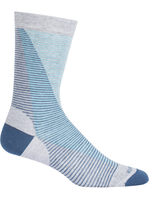 Icebreaker LifeStyle Fine Gauge UL Crew Leaning Ladders - Chaussettes - gris/bleu